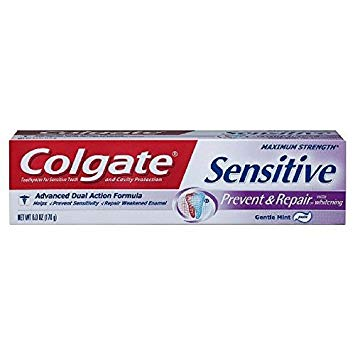 Colgate Sensitive Prevent & Repair Toothpaste With Whitening, 6 oz (Pack of 6)