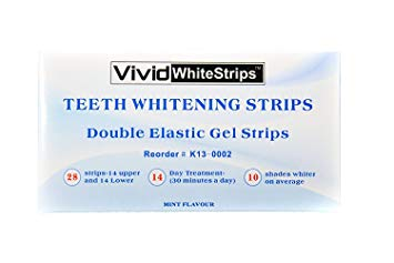 Teeth Whitening Strips Mint-Flavored, Up to 10 Shades Whiter Get a Brighter Smile,14 Day Show Results, by Vivid