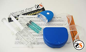 Teeth Whitening Kit- Led Light, Remin Gel, 2 35% Gel, 2 Trays, 1 Case, 1 Shade Guide